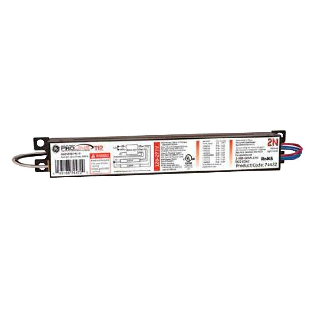 hight resolution of ge 120 to 277 volt electronic ballast for 4 ft 2 lamp t12 fixture 3 lamp ballast wiring diagram ge ballast wiring 240