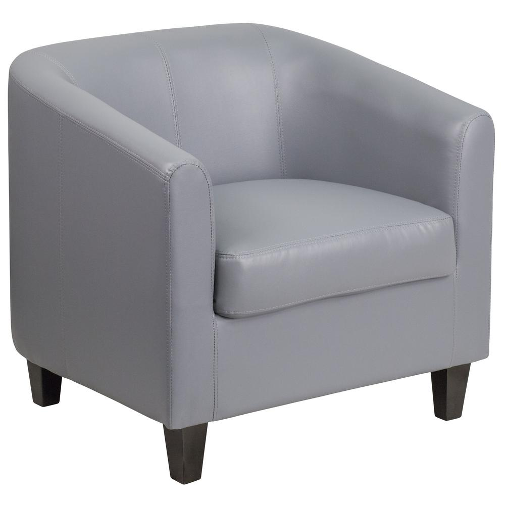 Flash Furniture Gray Leather Office Guest Chair