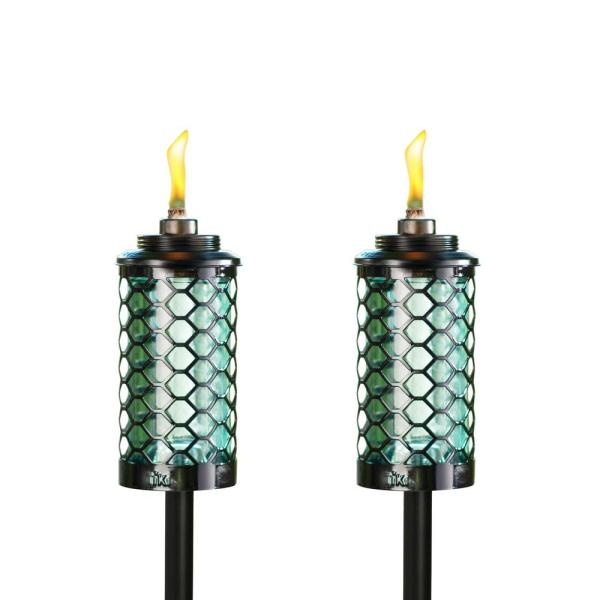 Tiki 65 In. Honeycomb Glass Torch Blue 2-pack -111716068