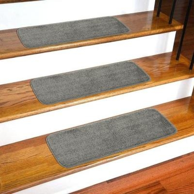Stair Tread Covers Rugs The Home Depot | 36 Inch Carpet Stair Treads | Attachable Indoor | Walmart | Basement Stairs | Vanilla Cream | Pet Friendly