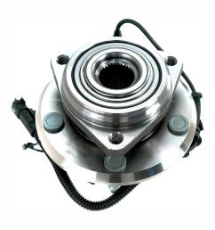 front wheel bearing and hub assembly fits 2007 2011 jeep wrangler [ 1000 x 1000 Pixel ]