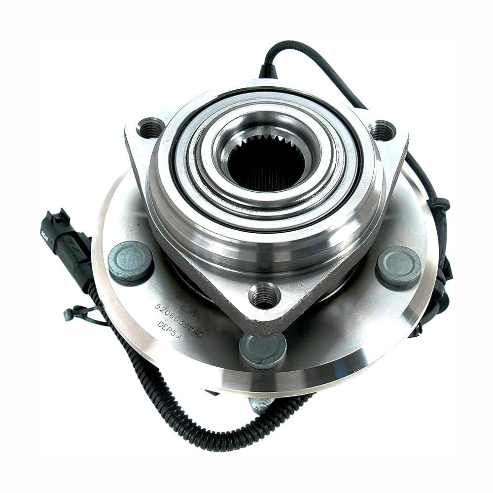 hight resolution of front wheel bearing and hub assembly fits 2007 2011 jeep wrangler