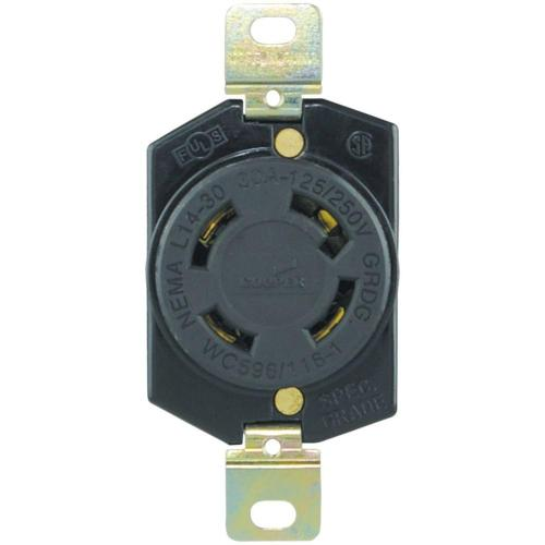 small resolution of eaton 30 amp 125 250 volt hart lock industrial grade receptacle shop cooper wiring devices 125 250volt 30amp black locking locking