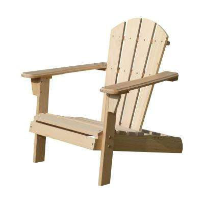 adirondack chair wood vintage childs rocking unfinished chairs patio the home depot kids kit