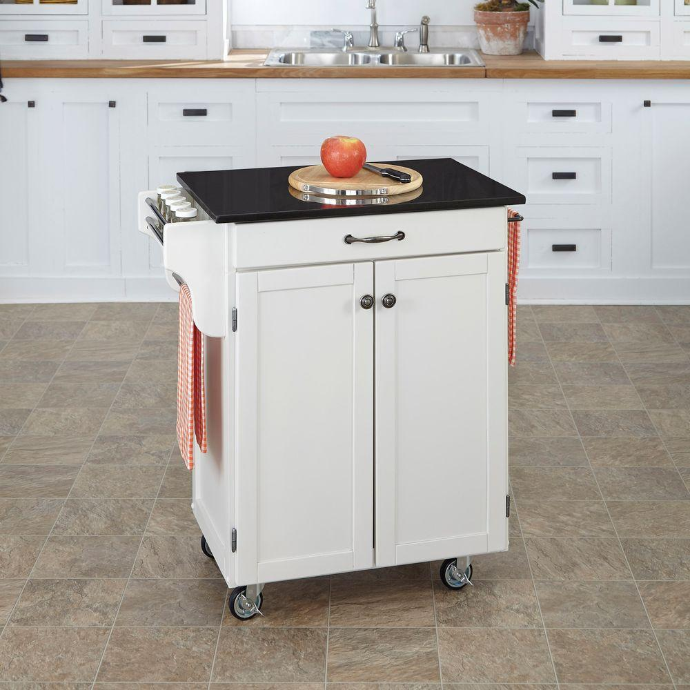 white kitchen island cart virtual makeover home styles create a with black granite top
