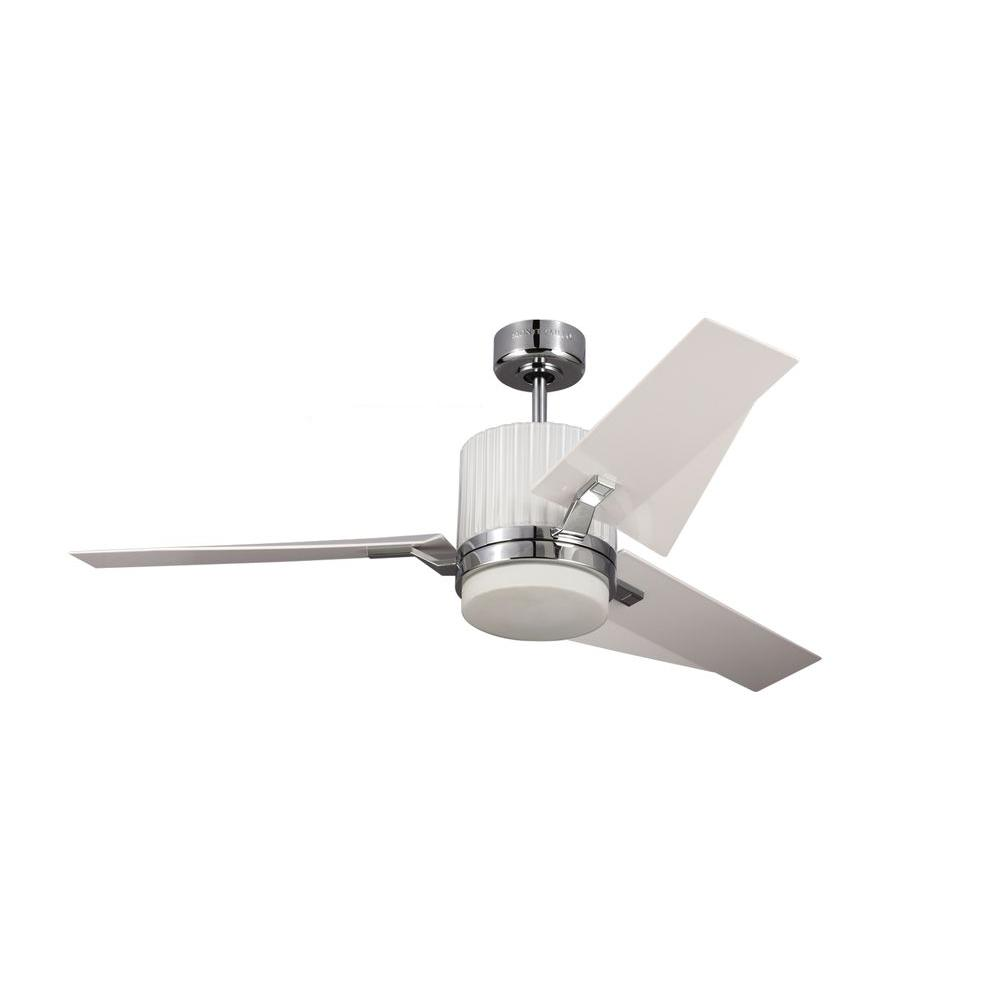 Monte Carlo Ken 52 in Chrome Ceiling Fan with White ABS Blades3KNR52CHDABS  The Home Depot
