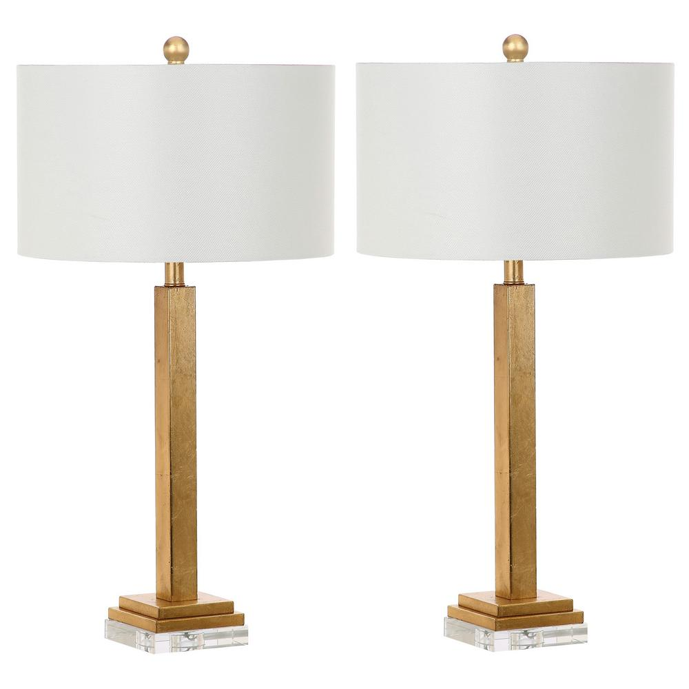 Safavieh Perri 30 in. Gold Crystal Base Table Lamp (Set of