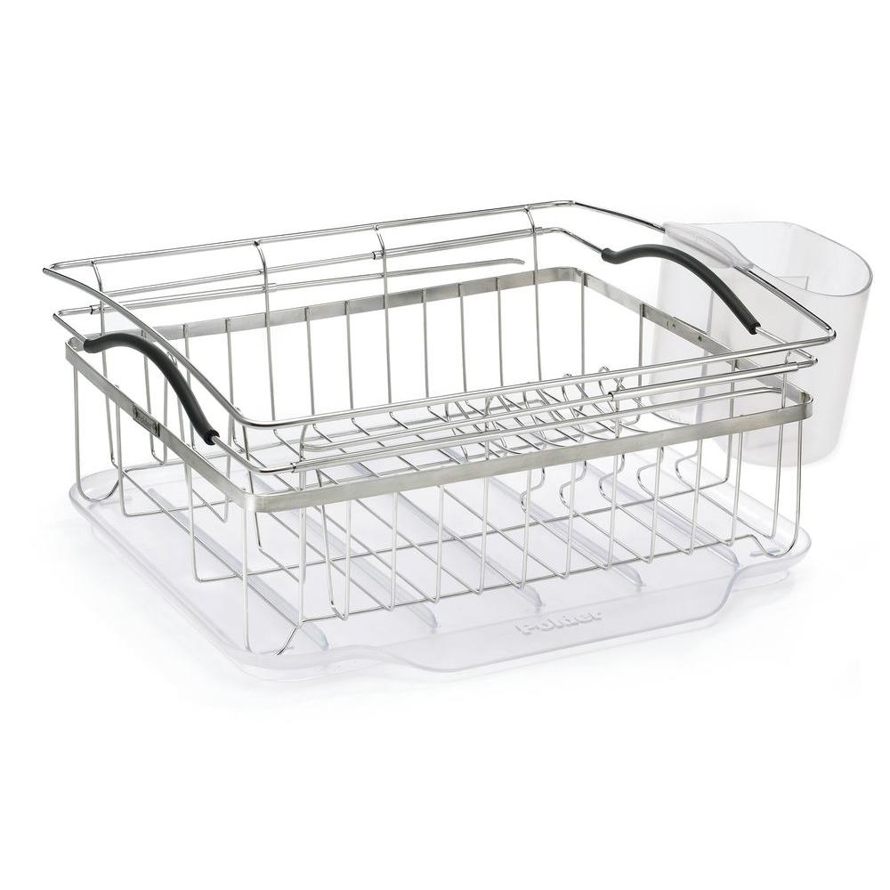 kitchen drying rack glass cabinets polder compact dish kth 250 the home depot
