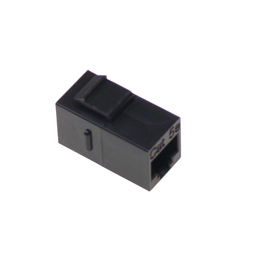 medium resolution of ntw cat5e f f feed through snap in keystone coupler jack black