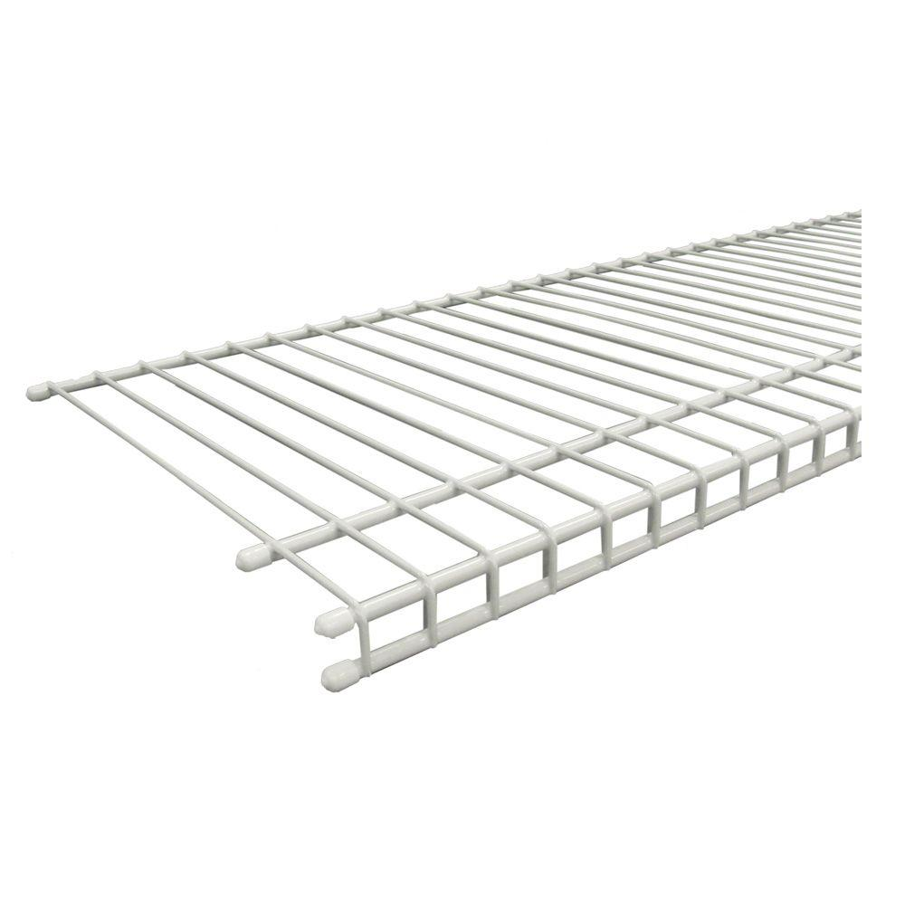 ClosetMaid SuperSlide 96 in. W x 12 in. D White Ventilated