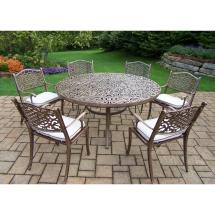 7-piece Aluminum Outdoor Dining Set With 60 In