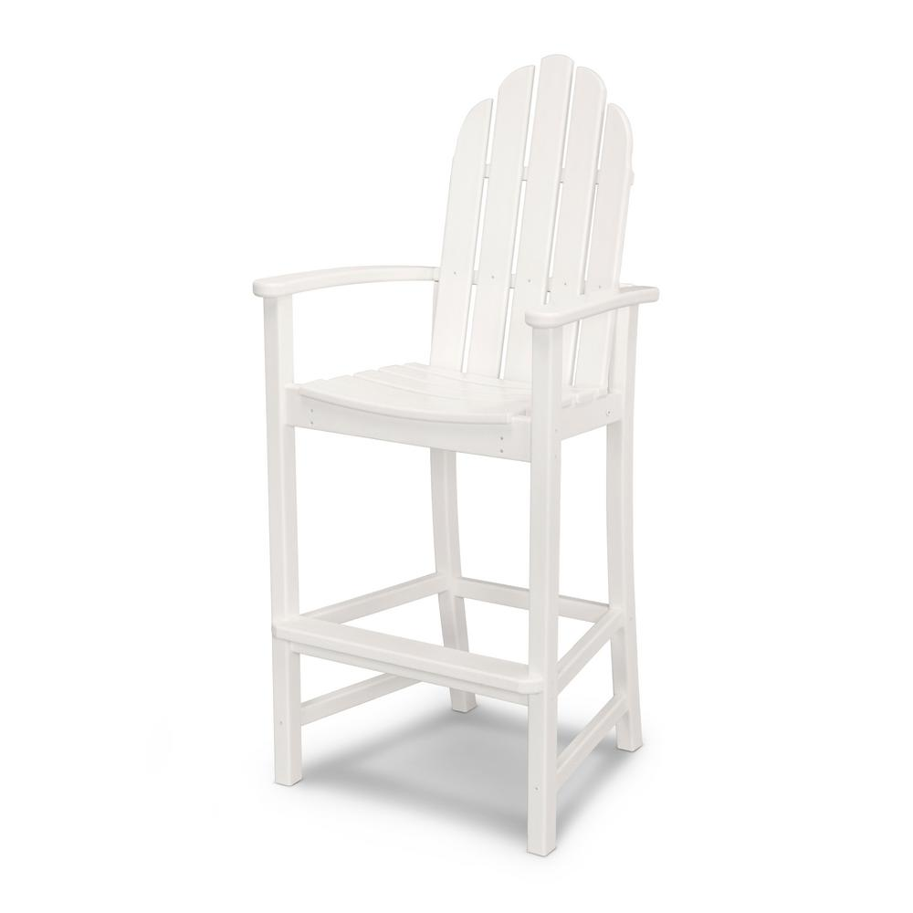home depot adirondack chair plastic black mat chairs cape cod polywood classic white chairadd202wh the