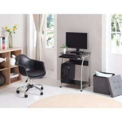Bedroom Glass Chair Burgundy Office Kids Desks Chairs Furniture The Home Depot Black Laptop Desk With Pull Out Keyboard Tray