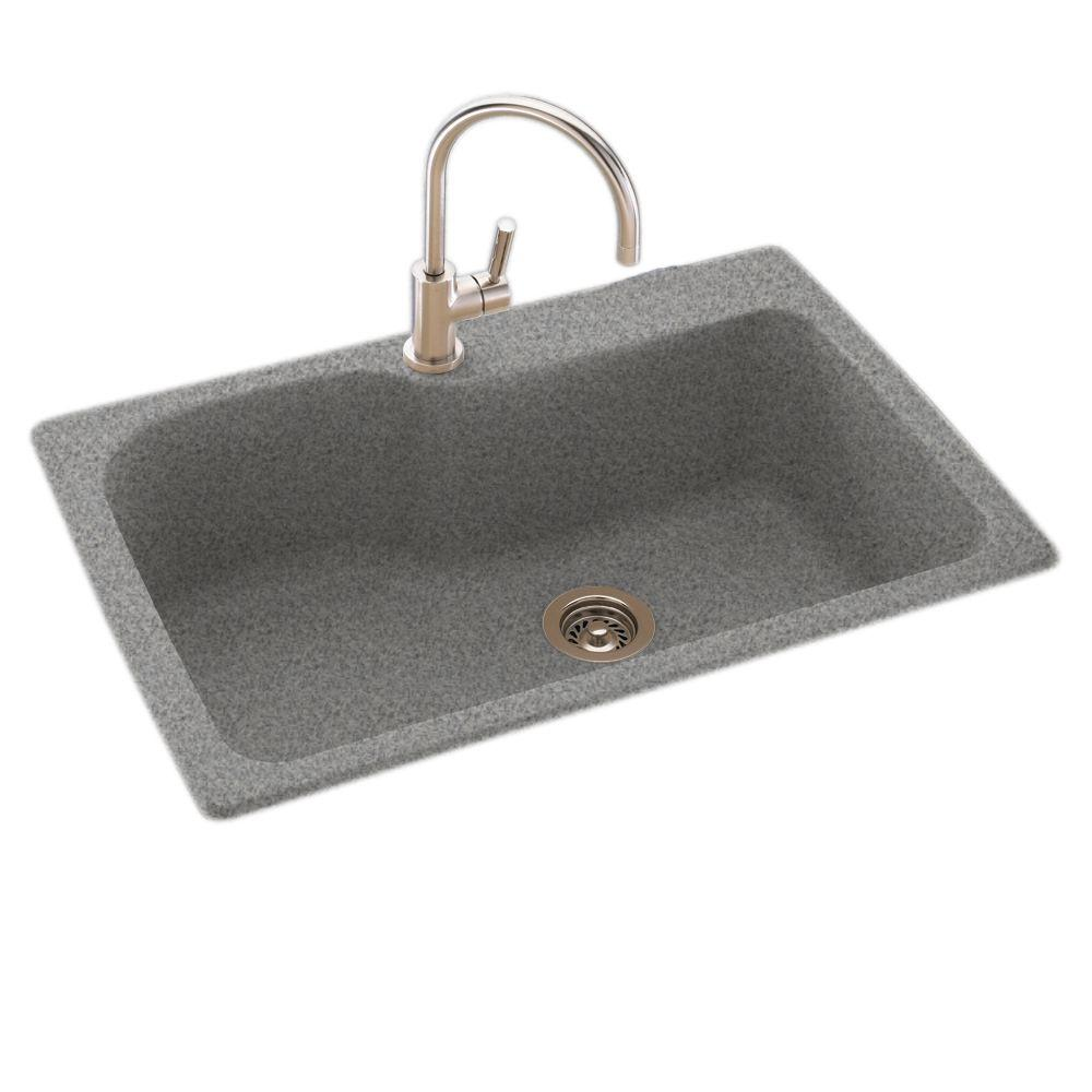 swanstone single bowl kitchen sink remodelled kitchens before and after drop-in/undermount composite 33 in. 1-hole ...