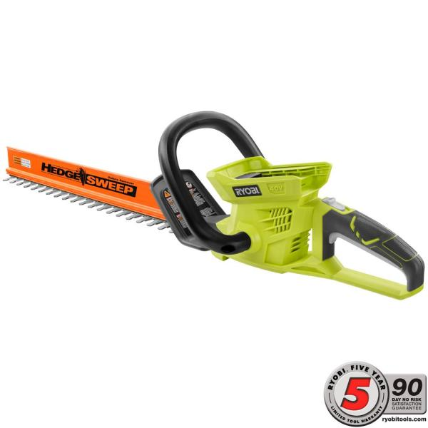 Ryobi 24 In. 40-volt Lithium-ion Cordless Hedge Trimmer - Battery And Charger Included
