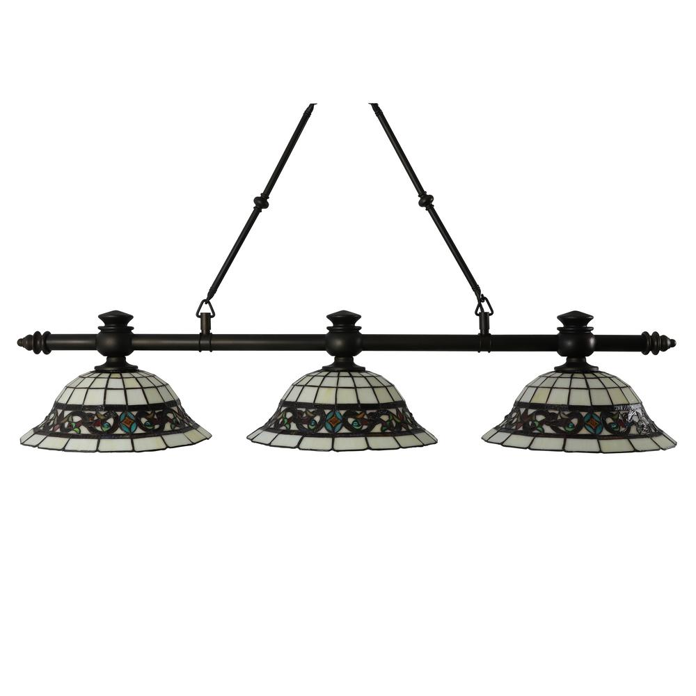 Decor Therapy Tiffany 3-Light Antique Bronze Pendant