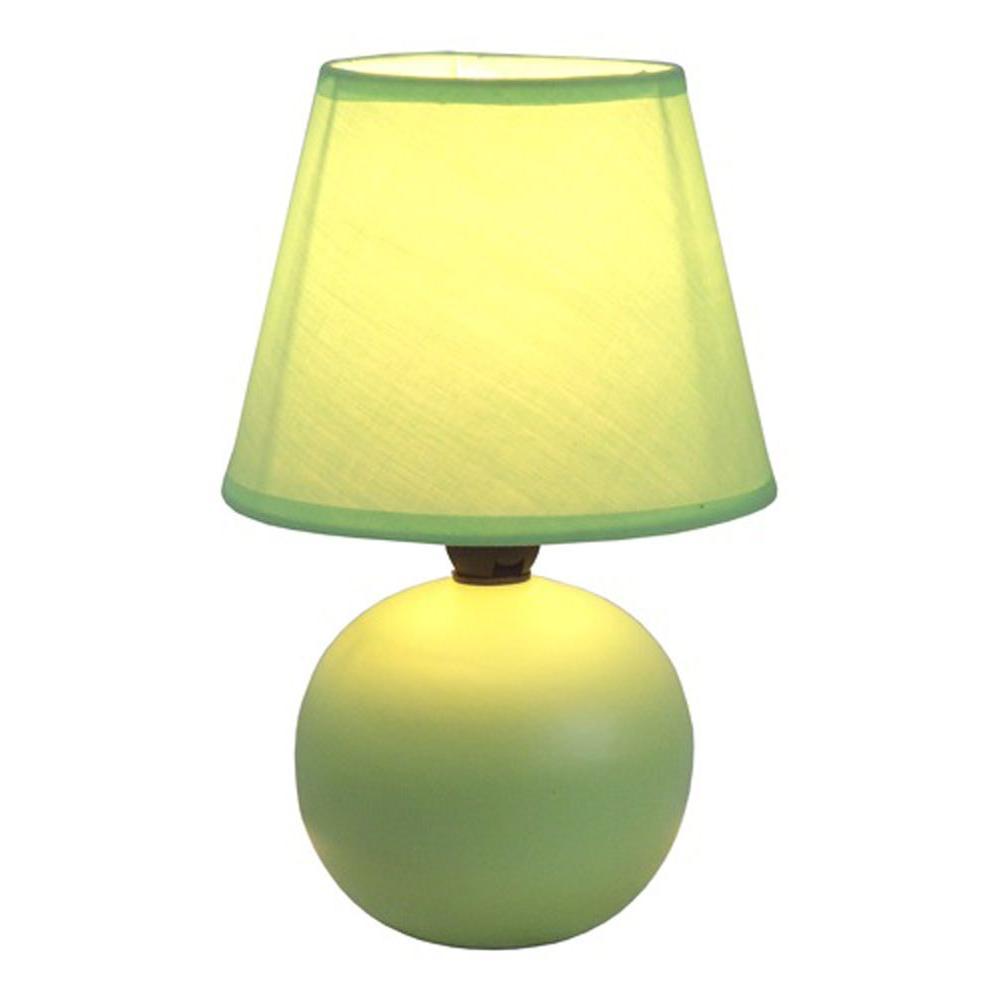 ORE International 13 in. Ceramic Green Table Lamp