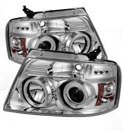 ford f150 04 08 projector headlights version 2 ccfl halo led replaceable leds chrome [ 1000 x 1000 Pixel ]