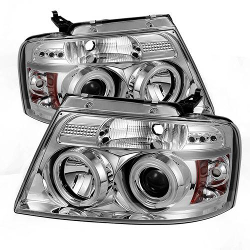small resolution of ford f150 04 08 projector headlights version 2 ccfl halo led replaceable leds chrome