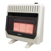 Reddy Heater 28,000 - 30,000 BTU Infrared Dual-Fuel Wall ...
