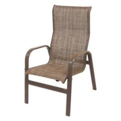S Dining Chair Home Goods Cushions Hampton Bay Commercial Grade Aluminum Oversized Outdoor Marco Island Brownstone Patio With Chesterfield Sling 2 Pack