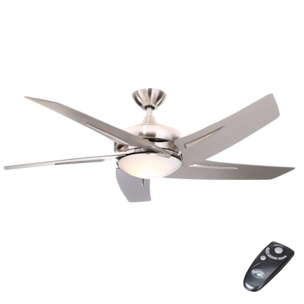 medium resolution of hampton bay sidewinder 54 in indoor brushed nickel ceiling fan with rh homedepot com
