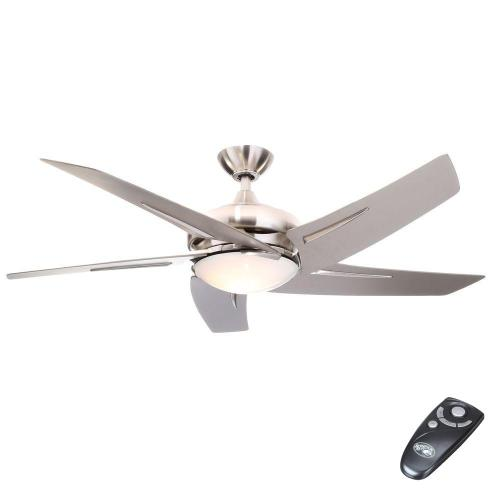 small resolution of hampton bay sidewinder 54 in indoor brushed nickel ceiling fan with rh homedepot com