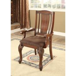 Metal Dining Chairs Johannesburg Garden Hanging Chair Covers I Brown Cherry Traditional Style Arm Cm3873ac 2pk The Home Depot