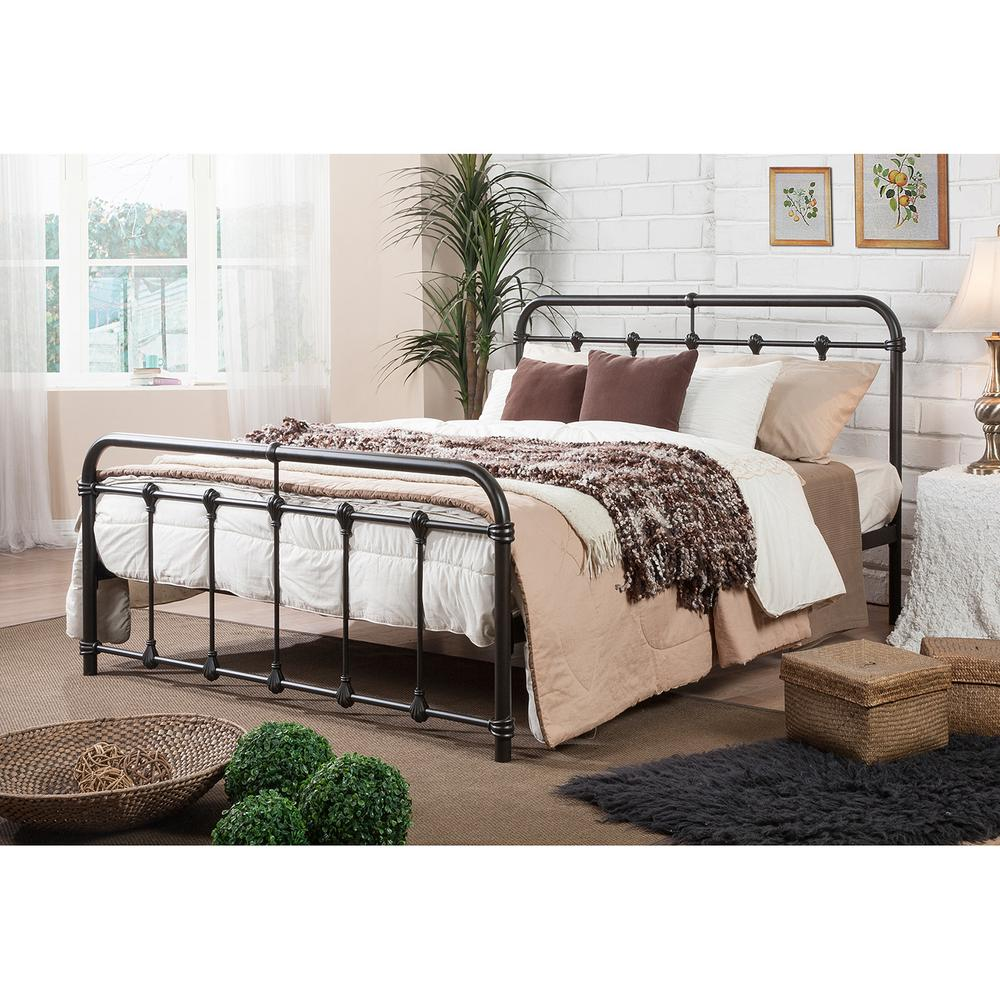 Baxton Studio Mandy Vintage Industrial Black Finished Metal Full Size Bed288626572HD  The