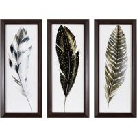 Decor Therapy 21.75 in. x 9.75 in. Watercolor Feathers ...