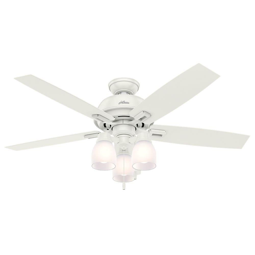 Hunter Donegan 52 in. LED Indoor Fresh White Ceiling Fan