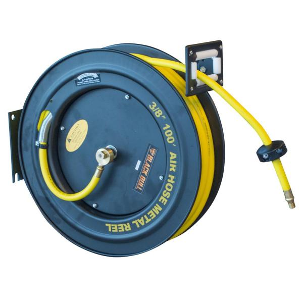 Black Bull 100 Ft. Retractable Air Hose Reel With Auto Rewind-802580 - Home Depot