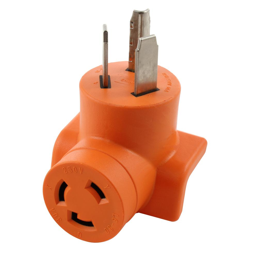 hight resolution of ac works 30 amp 3 prong 10 30p dryer plug to l6 30r