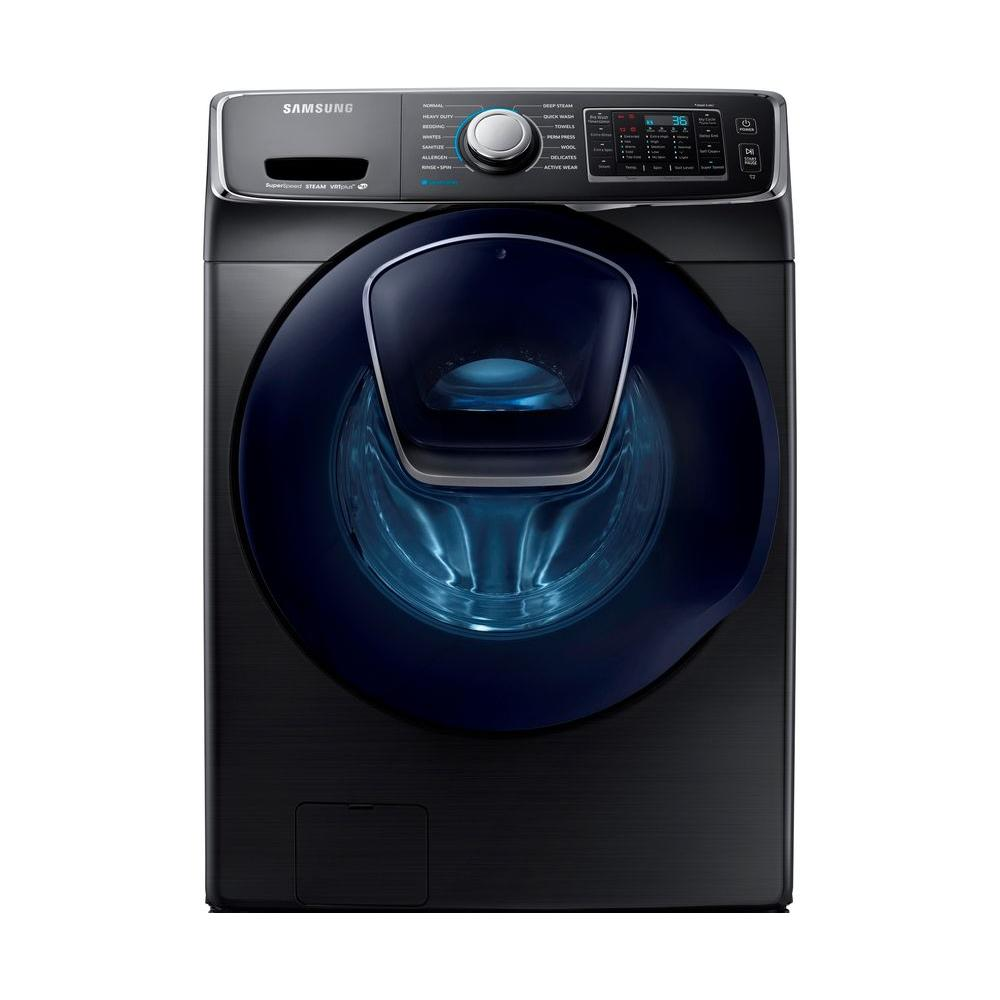 hight resolution of samsung 4 5 cu ft high efficiency front load washer with steam and addwash