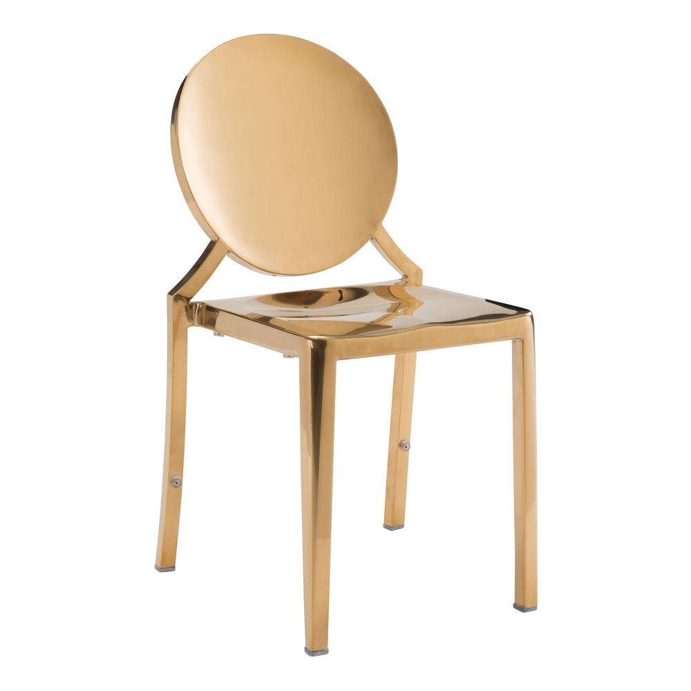 gold dining chairs childrens wooden chair engraved zuo eclipse set of 2 100553 the home depot