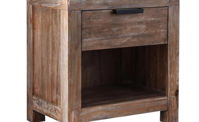 Furniture Of America Amarica 1 Drawer Weathered Light Oak