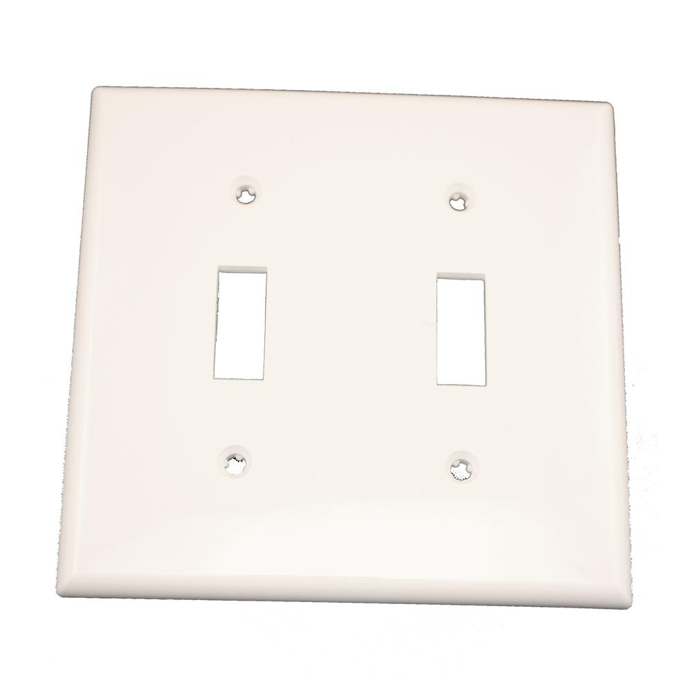 Leviton 2-Gang 2-Toggle Standard Size Heavy Duty Nylon