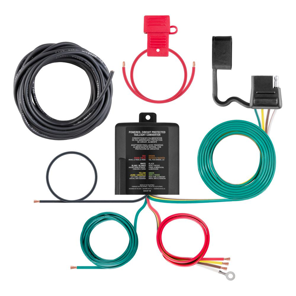 medium resolution of powered 3 to 2 wire taillight converter