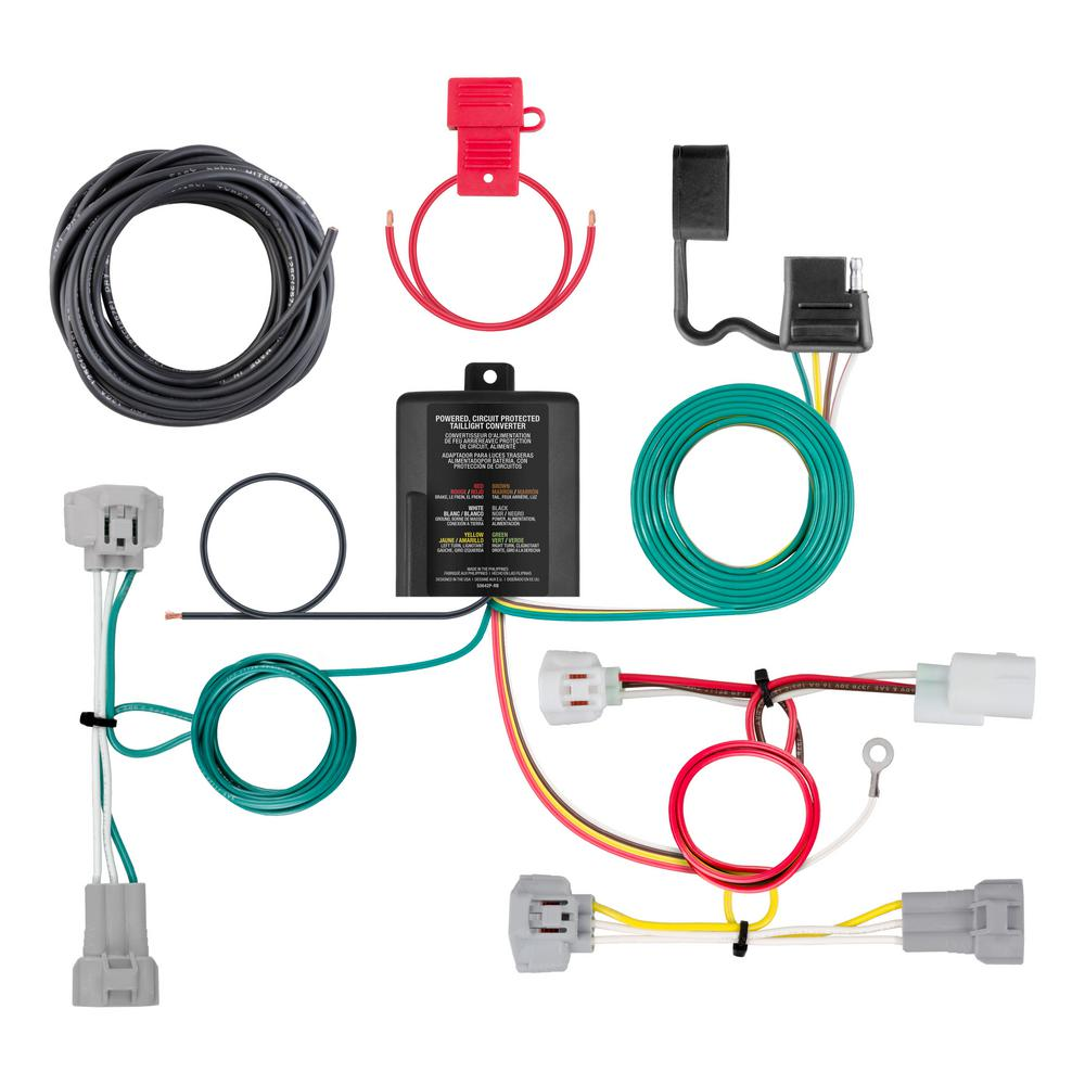 medium resolution of custom wiring harness 4 way flat output