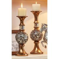 ORE International Langi Gold/Silver Candle Holder (Set of ...