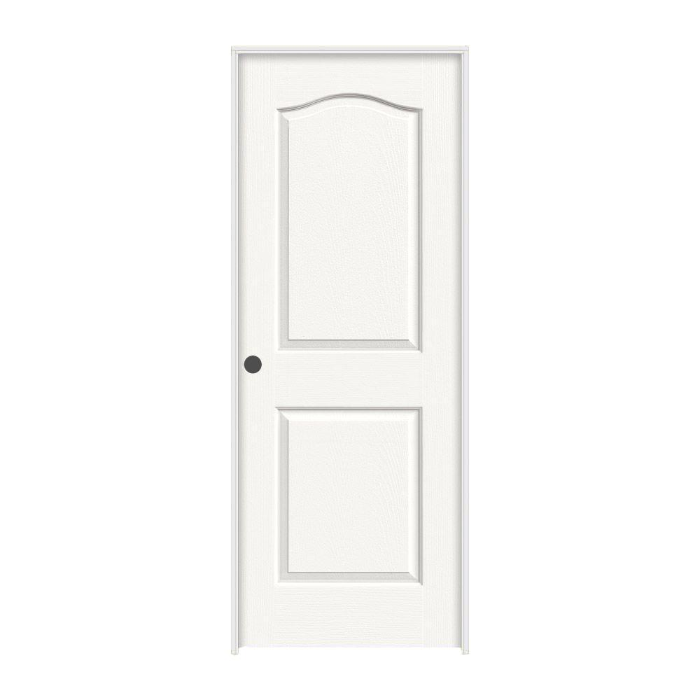 JELD-WEN 28 in. x 80 in. Camden White Painted Right-Hand