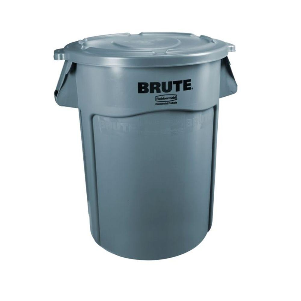 Best Kitchen Gallery: Rubbermaid Mercial Products Brute 32 Gal Gray Round Vented Trash of 30 Gallon Recycling Container Home on rachelxblog.com