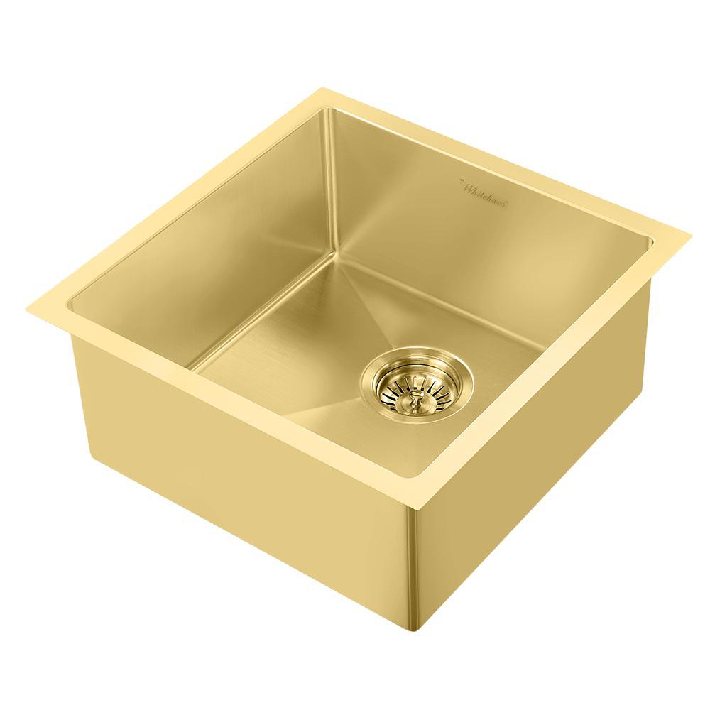 brass kitchen sink outdoor equipment whitehaus collection noah plus dual mount stainless steel 17 3 4 in single bowl kit