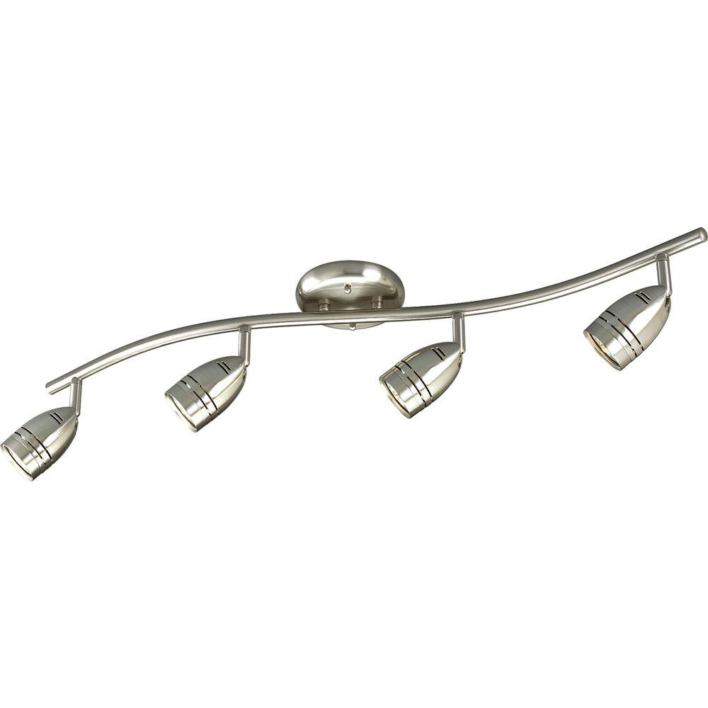 Progress Lighting 4-Light Brushed Nickel Track Lighting