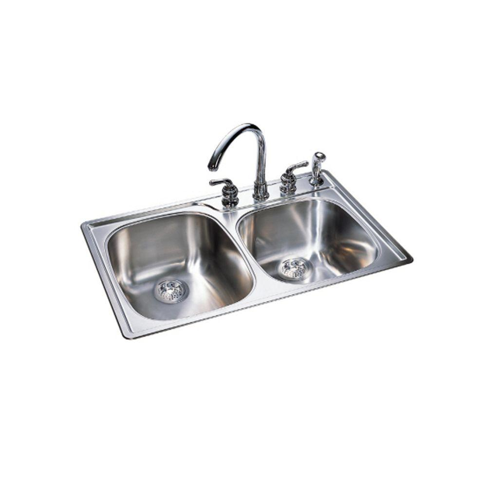 22 inch kitchen sink island discount franke combination bowl 18 gauge drop in stainless steel 4 hole