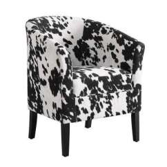 Cow Print Chair Doctor Office Chairs Club Animal Accent The Home Depot Carl Black Udder Madness