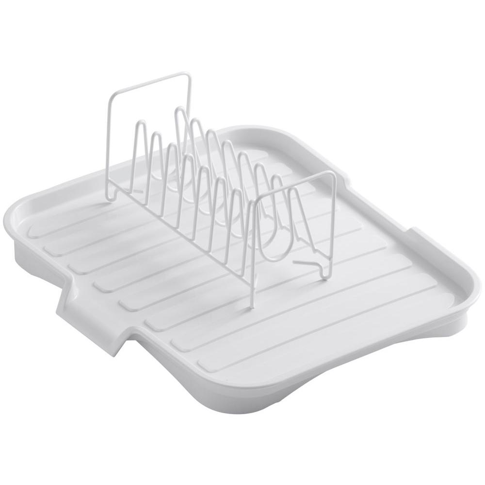 kitchen sink rack stove with griddle kohler drainboard wire bowl in white k 6539 0 the