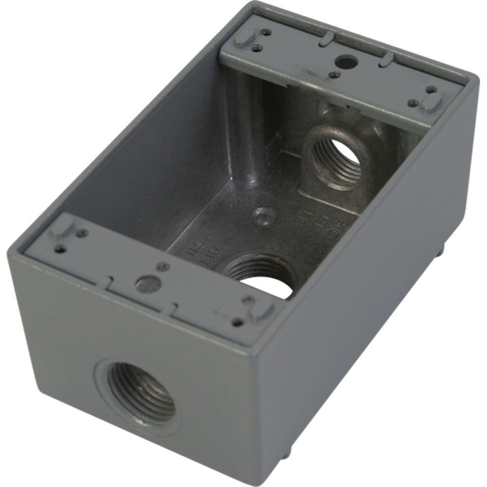 Standard Electrical Outlets 1 2 Outlet Indoor Oudoor Metal Junction