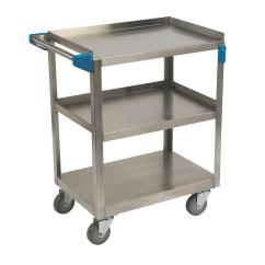 Stainless Kitchen Cart And Baths Carlisle 32 5 In H X 15 W 24 D Steel 3 Shelf Utility