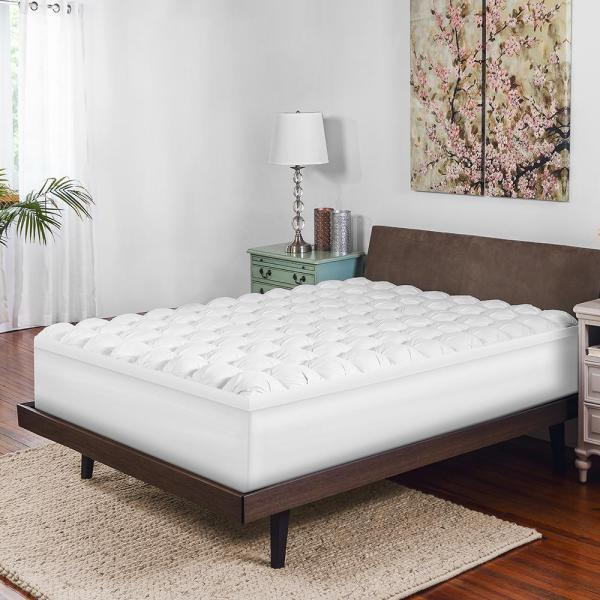 Biopedic 4 In. Full Size Gel-infused Memory Foam And Synthetic Baffle Box Topper-71157